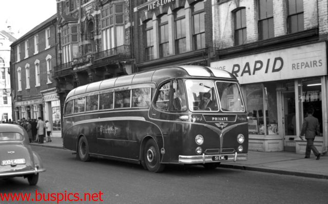 AEC Reliance 51 EML in Military Road Chatham about to load for a Theater trip to London 13th Jan 1961