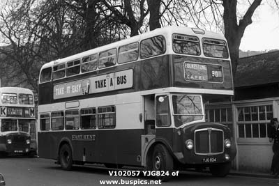 East Kent AEC Regent V with Park Royal Front Entrance 72 seat body.